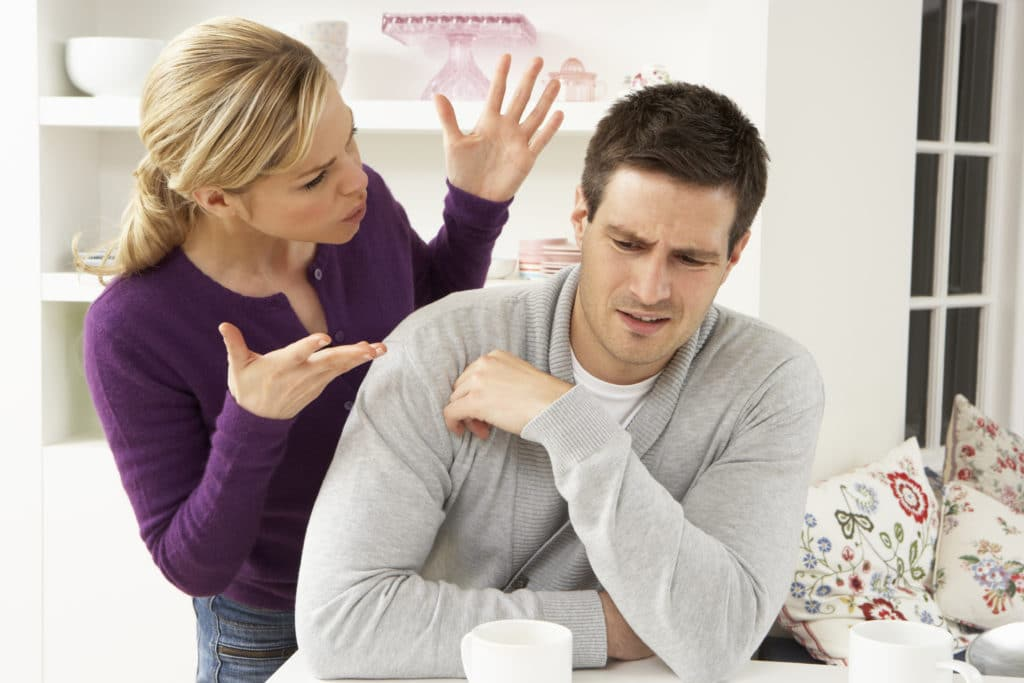 wife criticising and disrespecting husband